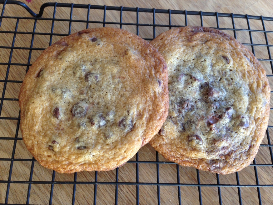 Nutella Stuffed Choc Chip Cookies - somewhatsimple 1