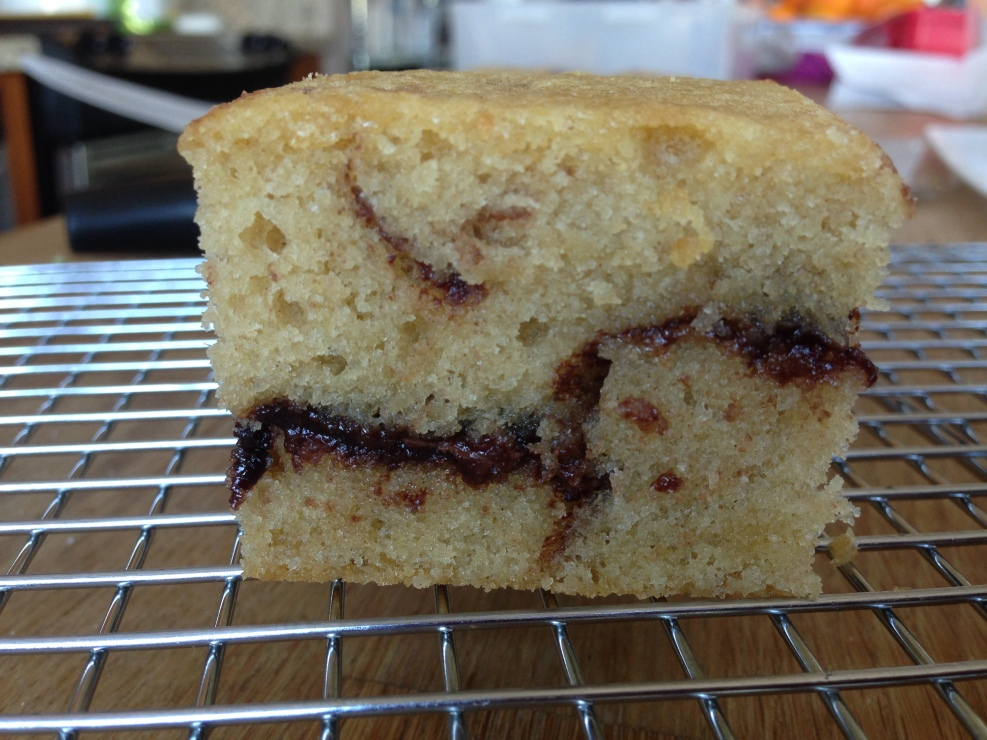 Nutella Swirl Vanilla Cake - Food & Wine 3