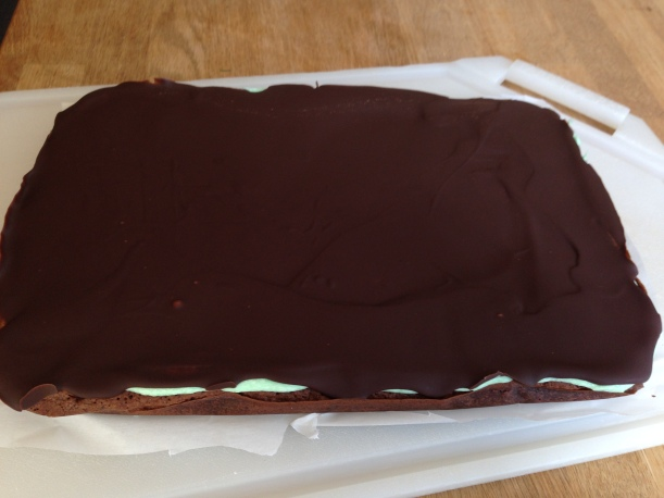 Chocolate Mint Brownies- Sally's 3